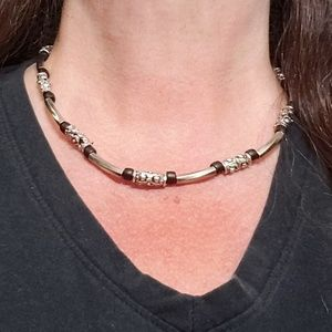 Jewelry - Unisex Necklace Silver, Red & Black